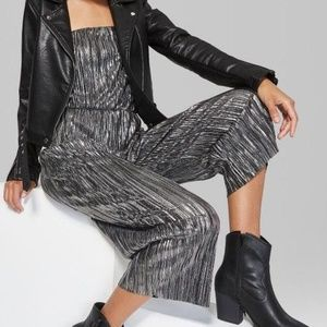 Wild Fable silver and black jumpsuit (M)